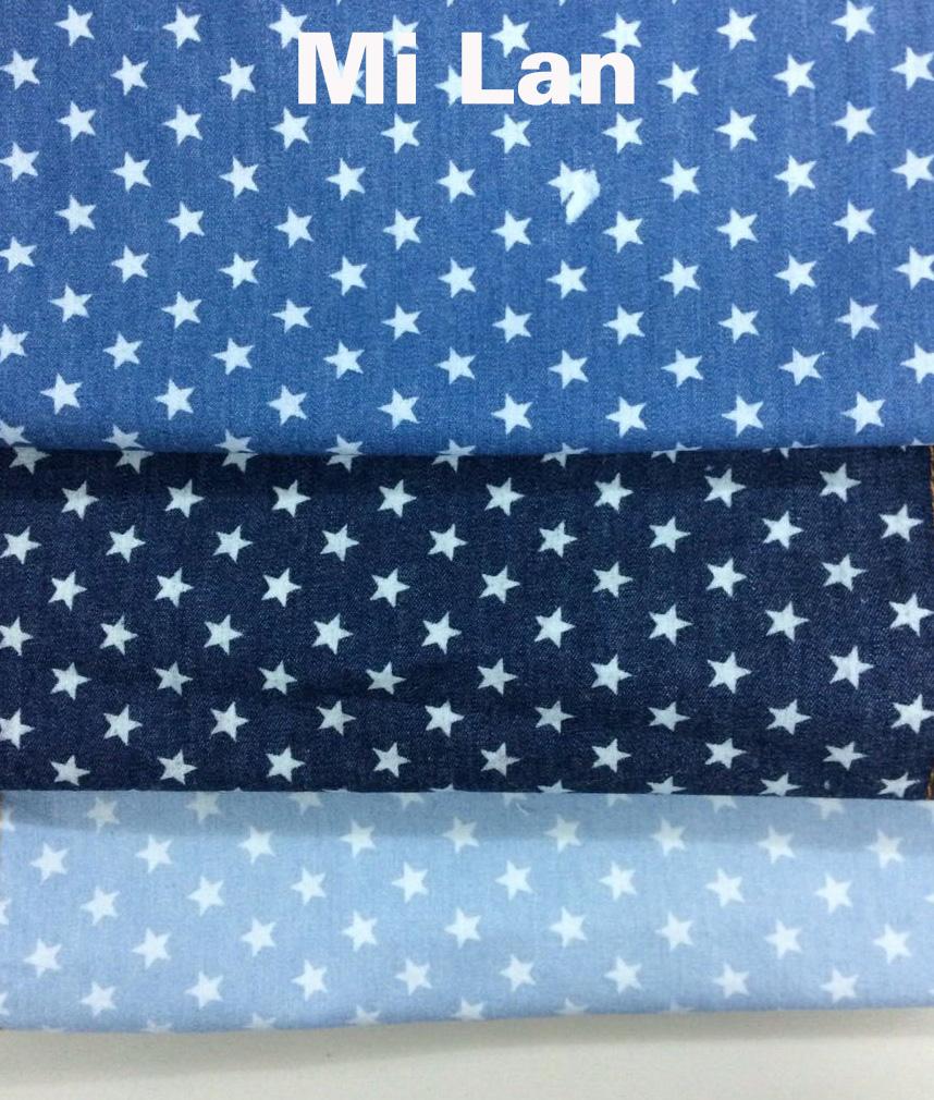 Vải jean phối ngôi sao P46