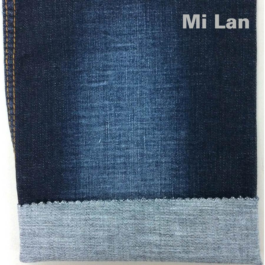 Vải jean cotton thun sới chân chim W76