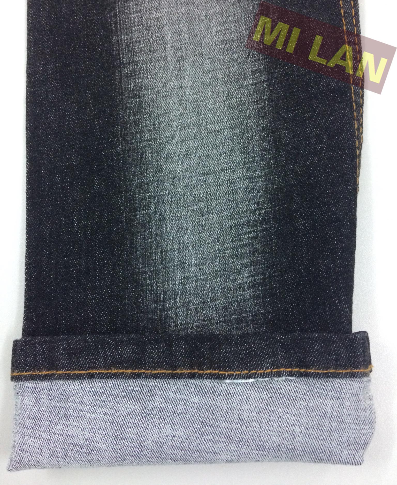 Vải jean thun nữ đen W85
