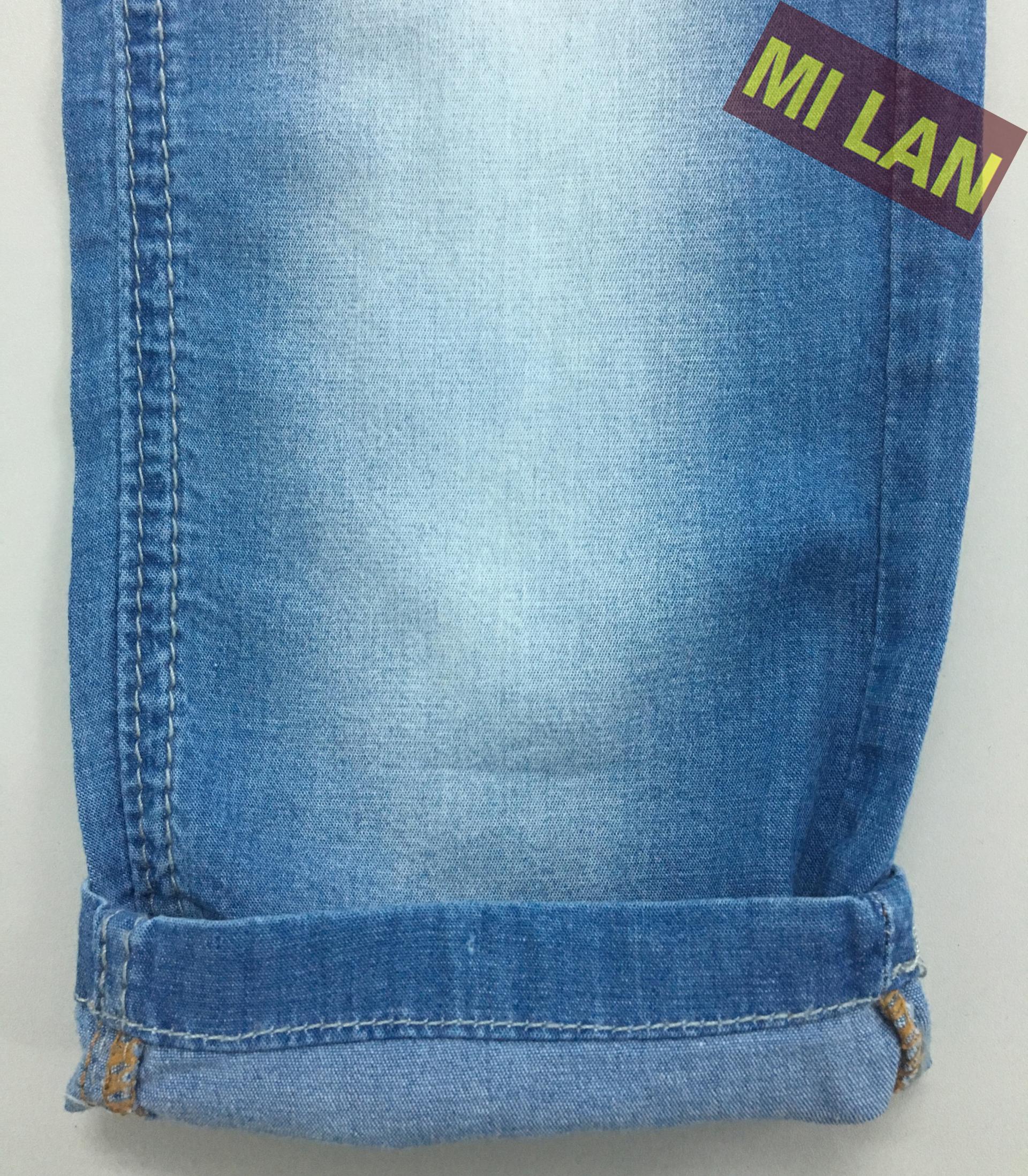 Vải jean Stock cotton thun bé gái S343