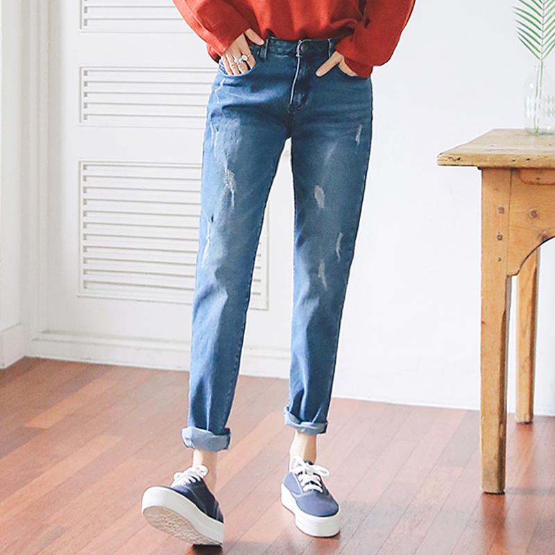 Vải jean may quần baggy nữ