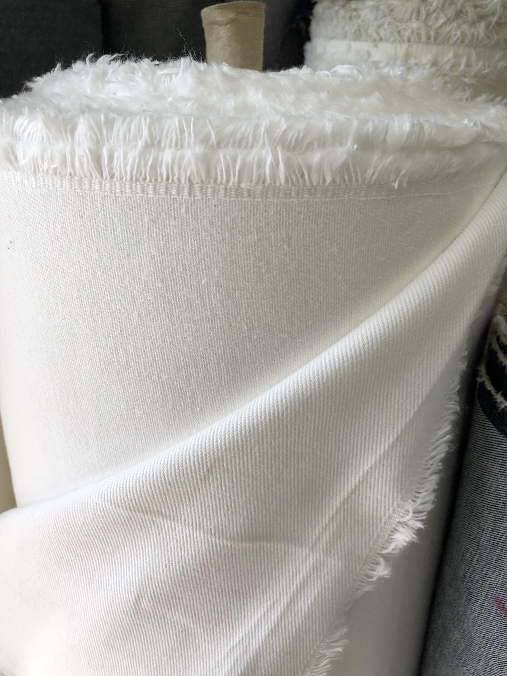 Vải mộc thun trắng