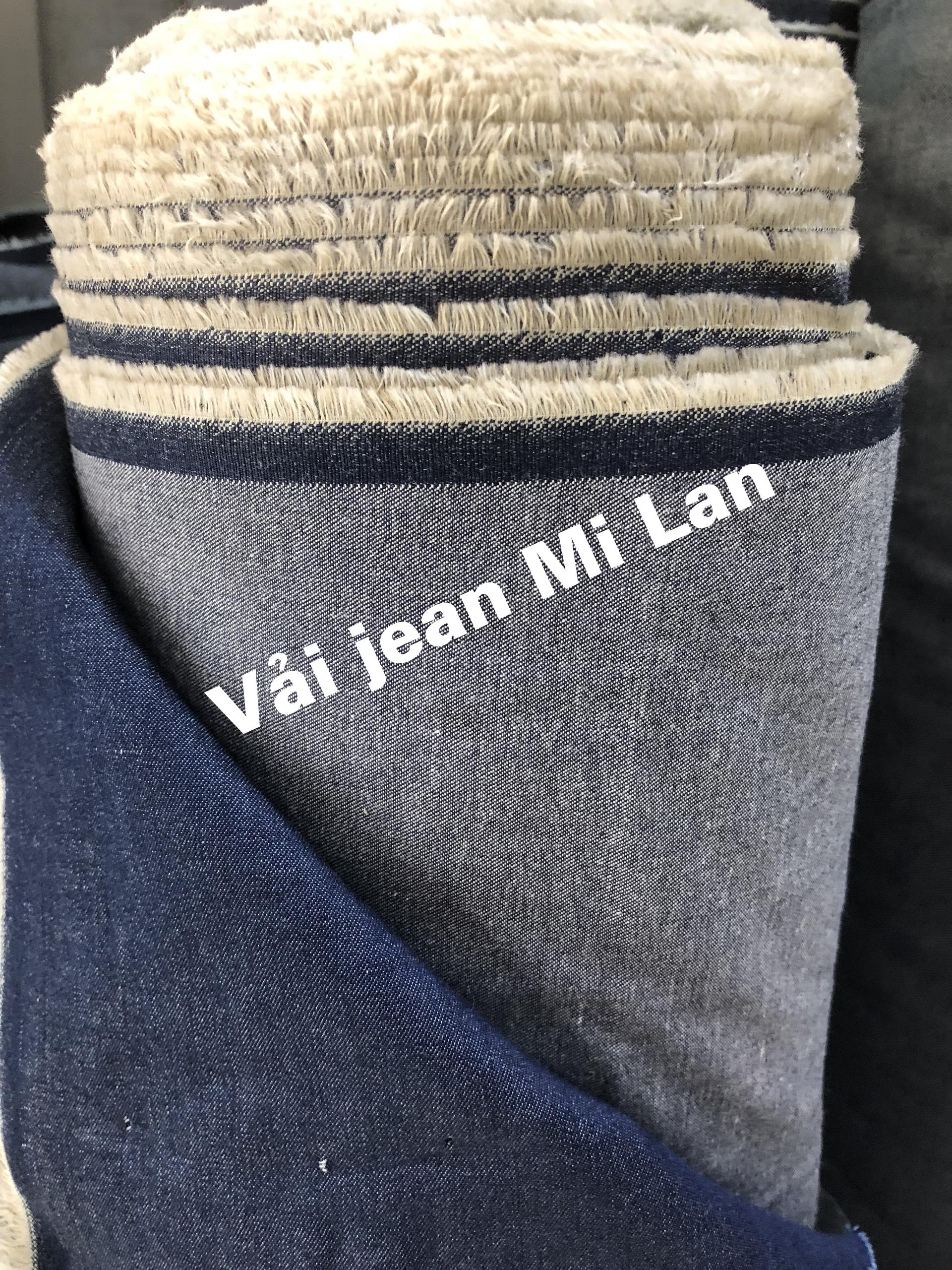 Vải jean giấy thời trang giá 35k